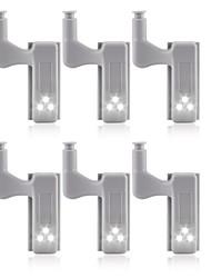 cheap -6pcs Universal LED Under Cabinet Light Cupboard Inner Hinge Lamp Closet Wardrobe Sensor Light Home Kitchen Night Light