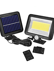 cheap -BRELONG Solar COB 100LEDs Infrared Sensor Motion Sensor Flood Light IP65 Waterproof for Outdoor Street Garden