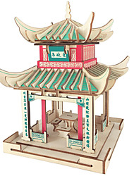 cheap -3D Puzzle Model Building Kit Wooden Model Chinese Architecture Fun 1 pcs Classic Kid's Toy Gift