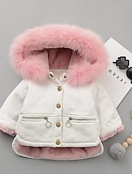 Недорогие -малыш Девочки Классический Однотонный На пуховой / хлопковой подкладке Белый