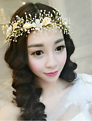 cheap -Women's Headbands For Wedding Wedding Geometrical Alloy Gold 1