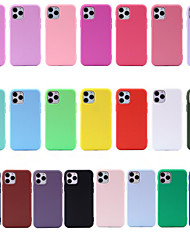 cheap -Case for Apple scene map iPhone 11 X XS XR XS Max 8 Solid color Painted Frosted TPU Texture All-inclusive phone case TT