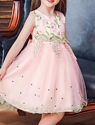 cheap -Kids Little Girls' Dress Floral Blue Purple Red Dresses