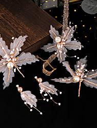 cheap -Alloy Hair Accessory / Earring with Rhinestone / Glitter 5 Pieces Wedding Headpiece