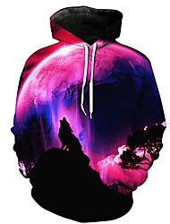 cheap -Men's Plus Size Hoodie 3D Hooded Casual Purple US32 / UK32 / EU40 US34 / UK34 / EU42 US36 / UK36 / EU44 US38 / UK38 / EU46 US40 / UK40 / EU48