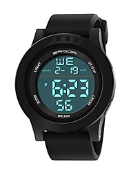 cheap -Couple's Sport Watch Digital Stylish Stainless Steel Black 30 m Water Resistant / Waterproof Chronograph Alarm Clock Digital Casual Outdoor - Black Black / White Green Two Years Battery Life