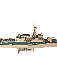cheap -3D Puzzle Jigsaw Puzzle Warship Ship Natural Wood Unisex Toy Gift