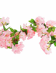 cheap -Artificial Flower Ceiling Decoration Wedding Artificial Artificial Flower Flower Vine Plastic Rattan Cherry Blossom 1 Stick