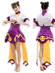cheap -Sweet Lolita Princess Lolita Dress Female Japanese Cosplay Costumes Purple Color Block Bowknot Half Sleeve Above Knee
