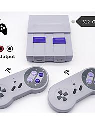 abordables -console de jeu vidéo rétro mini tv sans fil console de jeu rétro pour jeux nes 8 bits avec 312 jeux intégrés manettes doubles