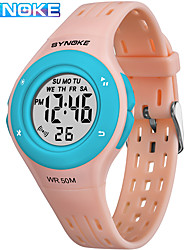 Недорогие -SYNOKE электронные часы Цифровой Спортивные Стильные силиконовый 30 m Защита от влаги Календарь ЖК экран Цифровой На открытом воздухе Мода - Черный Синий Розовый