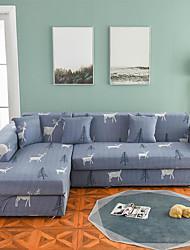 abordables -Cartoon cerf imprimer antipoussière toutes-puissantes housses stretch l forme housse de canapé super doux tissu housse de canapé avec une taie d'oreiller gratuite