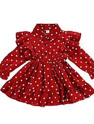 cheap -Kids Little Girls' Dress Polka Dot Red Dresses