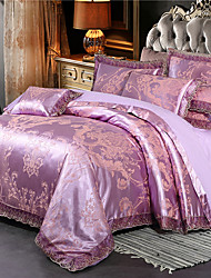cheap -Cotton Tencel Modal Large Jacquard 4 Piece Pure Cotton Satin Wedding Lace Bed Sheet Bedding Set