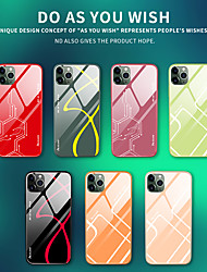 cheap -Case for Apple scene map iPhone 11 11 Pro 11 Pro Max X XS XR XS Max 8 colorful pattern tempered glass back plate liquid silicone two-in-one all-inclusive drop-proof mobile phone case