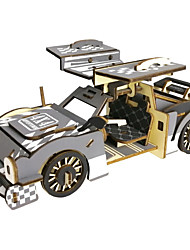 cheap -PIECECOOL 3D Puzzle Jigsaw Puzzle Wooden Puzzle Metal Puzzle Wooden Model 1 pcs Car Creative Cool Novelty DIY Punk Fashion Classic & Timeless Special Race Car Boys' Girls' Toy Gift / Metalic / Kid's