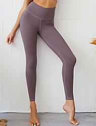 cheap -Women's High Waist Yoga Pants Ruched Butt Lifting Fashion Black Purple Dark Green Green Blue Running Fitness Gym Workout Tights Leggings Sport Activewear Moisture Wicking Butt Lift Tummy Control High