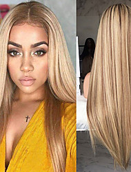 cheap -Synthetic Wig Straight kinky Straight Asymmetrical Wig Blonde Long Blonde Synthetic Hair 27 inch Women's Best Quality Middle Part Blonde