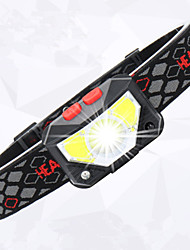 cheap -Amazon'S New USB Charging Warning Red Light LED Strong Light Sensor Headlight Outdoor Night Fishing Waterproof Headlight