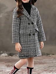 Недорогие -Дети Девочки Классический Однотонный Куртка / пальто Серый