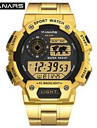 Недорогие -SYNOKE электронные часы Цифровой Спортивные Стильные силиконовый 30 m Защита от влаги Календарь ЖК экран Цифровой На открытом воздухе Мода - Черный Золотой Серебряный