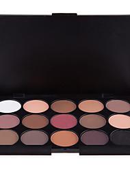 abordables -15 couleurs Fards à Paupières Le fard à paupières Outdoor Pro Facile à Utiliser Ultra léger (UL) Professionnel Maquillage Quotidien Cosmétique Cadeau