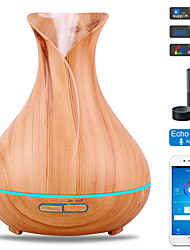 cheap -400ml Aroma Diffuser Aroma Air Humidifier 7 Color LED Light Electric Cool Mist Maker with APP Remote Control