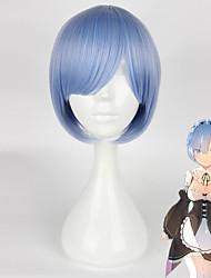 cheap -Re:Zero Starting Life in Another World kara hajimeru isekai seikatsu Rem Ram Cosplay Wigs Women's 14 inch Heat Resistant Fiber Anime Wig