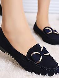 cheap -Women's Flats Flat Heel Round Toe PU Winter Black / Wine / Yellow
