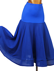 Недорогие -Бальные танцы Юбки Комбинация материалов Жен. Учебный Завышенная талия Молочное волокно