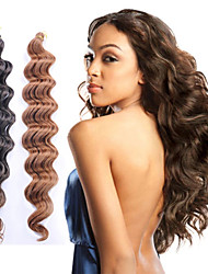 cheap -Faux Locs Dreadlocks Deep Wave Box Braids Natural Natural Color Synthetic Hair Braiding Hair 6 Pieces / Normally 5-6 pieces are enough for a full head. / The hair length in the picture is 18 inch.
