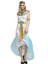 cheap -Cleopatra Ancient Egypt Masquerade Women's Spandex Costume White Vintage Cosplay Sleeveless Ankle Length