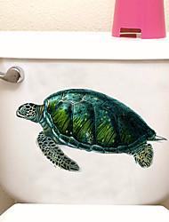 Недорогие -Наклейки для туалета - Наклейки для животных Животные Ванная комната / В помещении