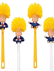 cheap -Donald Trump Brush Toilet Supplies Set Brush Holders Wc Borstel Original Toilet Paper Bathroom Cleaning Tools