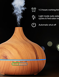 cheap -550ml Aromatherapy Essential Oil Diffuser Wood Grain Remote Control Ultrasonic Air Humidifier Cool Mister with 7 Color LED Light