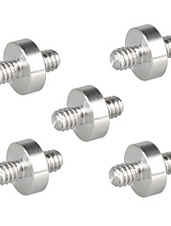 cheap -CAMVATE 1/4-20 Male to 1/4-20 Male Thread Double-ended Screw Adapter (5 Pieces) C2188