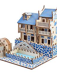 abordables -Petites Voiture Jouet à Energie Solaire Puzzles 3D Moulin à vent Maison Solaire A Faire Soi-Même En bois Classique Enfant Jouet Cadeau