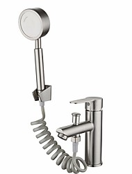 cheap -Shower Faucet Set - Handshower Included Contemporary Electroplated Wall Installation Ceramic Valve Bath Shower Mixer Taps / Stainless Steel