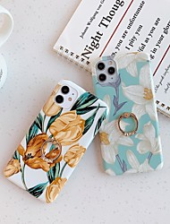 cheap -Case for Apple scene map iPhone 11 11 Pro 11 Pro Max X XS XR XS Max 8 Colorful flower pattern shiny TPU material IMD process ring bracket all-inclusive mobile phone case