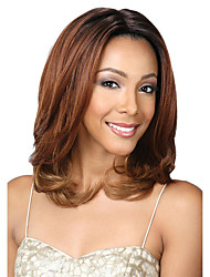cheap -Synthetic Wig Curly Asymmetrical Wig Medium Length Light Brown Synthetic Hair 16 inch Women's Best Quality Brown