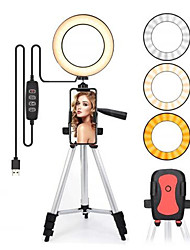 cheap -Led Light Ring For Selfie Lamp Ring Light Tripod With Lamp Photography Lighting For Youtube Holder Camera Phone Clip Studio