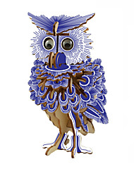 cheap -3D Puzzle Jigsaw Puzzle Wooden Puzzle Owl DIY 1 pcs Kid's Adults' Unisex Boys' Girls' Toy Gift