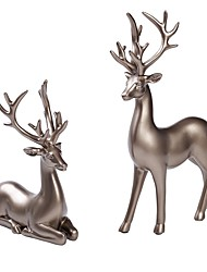 cheap -Couple Deer Ornaments Figurine Statues Creative Interior Car Ornaments Cake Decorations Desktop