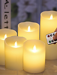 cheap -BRELONG LED Simulation Candle Light Battery Type Flameless 5PCS Candle Night Light With Remote Control