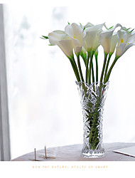 cheap -10 Pieces / Lot PU Artificial Flowers Calla Lily Bunch Fake Flower Bouquet Table Home Wedding Decoration Fall Decor
