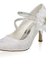 abordables -Femme Chaussures de mariage Talon Aiguille Bout fermé Satin Doux Printemps été / Automne hiver Ivoire / Mariage