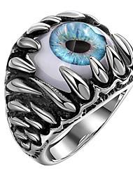cheap -Men Band Ring Geometrical Silver Steel Eyes Fashion 1pc 8 9 10 11 12 / Men's