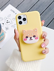 cheap -Case for Apple scene map iPhone 11 11 Pro 11 Pro Max X XS XR XS Max 8 solid color matte thickened TPU material cartoon folding bracket all-inclusive mobile phone case Weihang