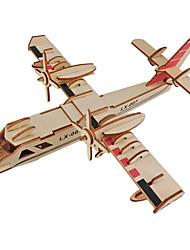 abordables -Puzzles 3D Puzzle Maquettes de Bois Avion A Faire Soi-Même En bois Bois Naturel Unisexe Jouet Cadeau