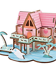 cheap -RUOTAI 3D Puzzle Model Building Kit Wooden Model Houses Wooden 1 pcs Kid's Toy Gift